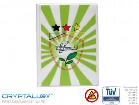 RFID Reisepass-Schutzhülle TRENDYSAFE Flugzeug Grün