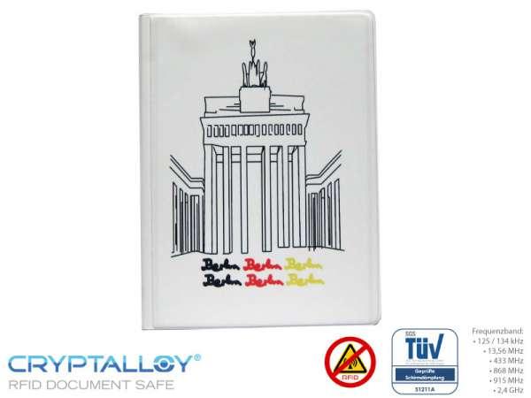RFID NFC Reisepass-Schutzhülle TRENDYSAFE Brandenburger Tor