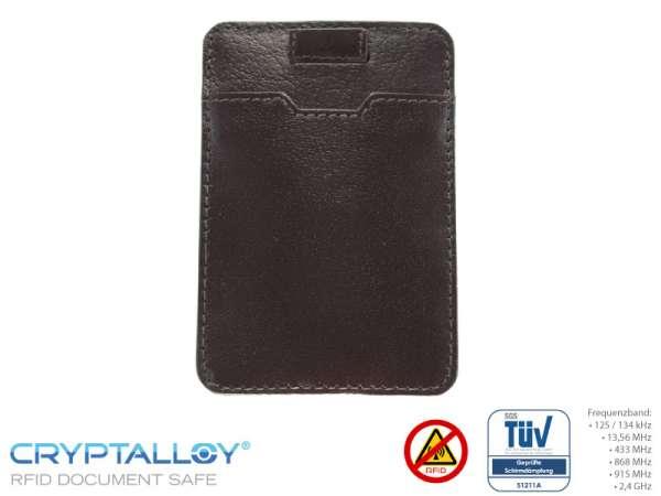 RFID NFC Kartenetui PULL-TAB Braun