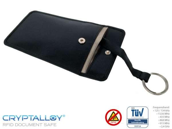RFID Leder-Schlüssel-Schutzhülle SILVERSTONE