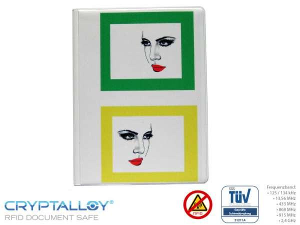 RFID NFC Reisepass-Schutzhülle TRENDYSAFE Gesichter