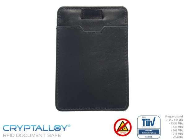 RFID NFC Kartenetui PULL-TAB Schwarz