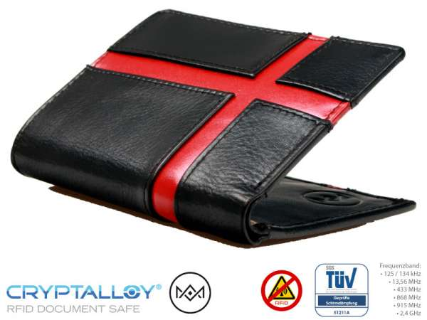 RFID NFC Schlüsselbörse AM Rot