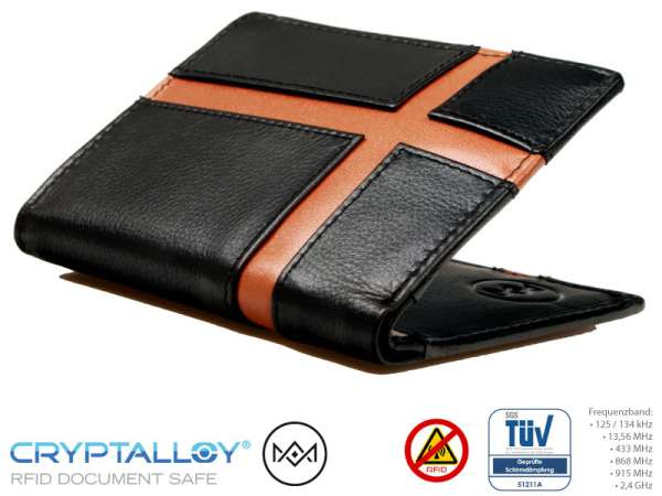RFID NFC Schlüsselbörse AM Braun