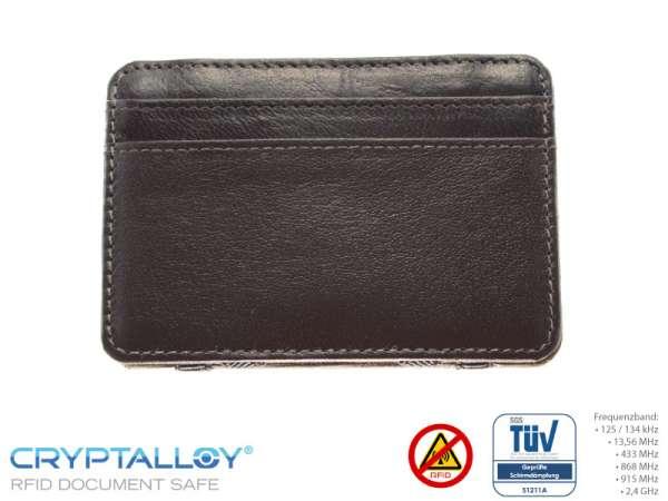 RFID NFC Kreditkartenetui MAGIC Braun