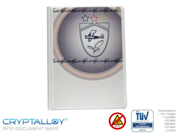 RFID Reisepass-Schutzhülle TRENDYSAFE Flugzeug